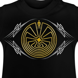 Man in the Maze - Tribal Tattoo - gold silber | Kinder Shirt - Baby T-Shirt