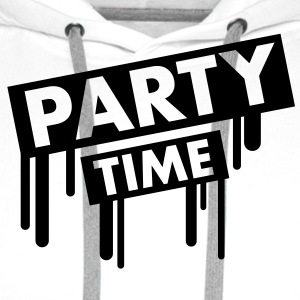 party_time_graffiti T-skjorter - Premium hettegenser for menn