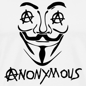 logo anarchy anonymous2 masque mask Sweat-shirts - T-shirt Premium Homme