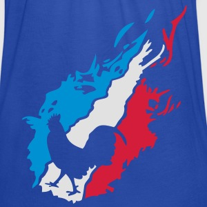 france foot supporter equipe coq flamme1 Sweat-shirts - Débardeur Femme marque Bella