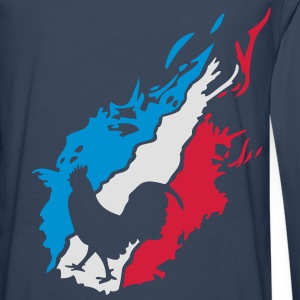 france foot supporter equipe coq flamme1 Sweat-shirts - T-shirt manches longues Premium Homme