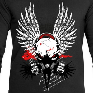 Cyber Punk Winged Skull V6 T-Shirts - Men's Sweatshirt by Stanley & Stella