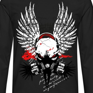 Cyber Punk Winged Skull V6 T-Shirts - Men's Premium Longsleeve Shirt