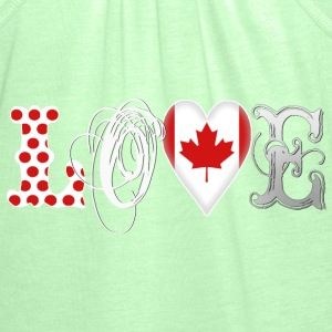 Love Canada White Hoodies - Women's Tank Top by Bella