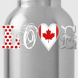 Love Canada White Hoodies - Water Bottle