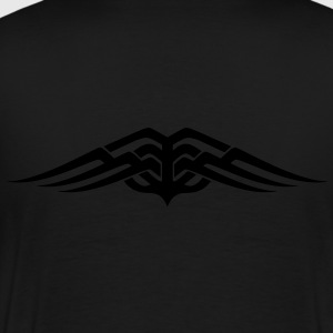 Womens Tribal tattoo wings design Hoodie - Men's Premium T-Shirt