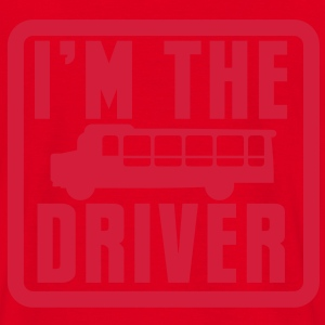 I'm the BUS DRIVER with a bus in a square Hoodies & Sweatshirts - Men's T-Shirt