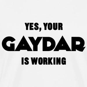 Yes, Your Gaydar Is Working Sweaters - Mannen Premium T-shirt