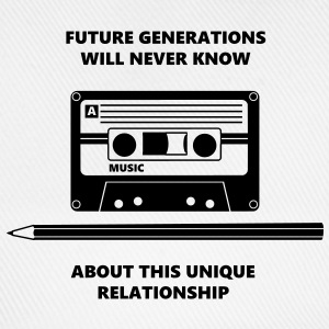 Audio Tape Stift Pencil Relationship T-shirts - Basebollkeps