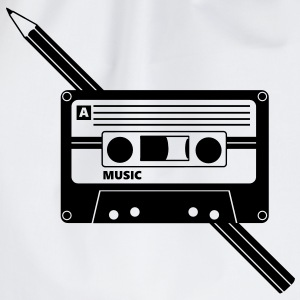 Kassette Stift Audio Tape Pencil T-Shirts - Turnbeutel