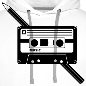 Kassette Stift Audio Tape Pencil T-Shirts - Männer Premium Hoodie