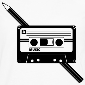 Kassette Stift Audio Tape Pencil T-skjorter - Premium langermet T-skjorte for menn