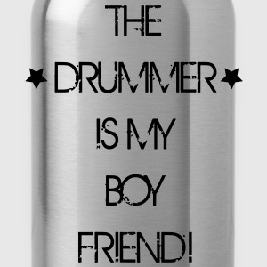 The Drummer is my Boyfriend T-shirts - Vattenflaska