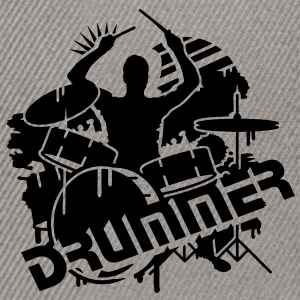 A DRUMMER ON HIS DRUMS Kids' Tops - Snapback Cap