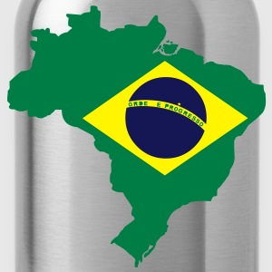 Brazil Map T-Shirts - Water Bottle