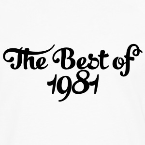 Geburtstag - Birthday - the best of 1981 (nl) T-shirts - Mannen Premium shirt met lange mouwen