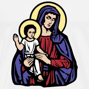 Mary and Jesus - Men's Premium T-Shirt