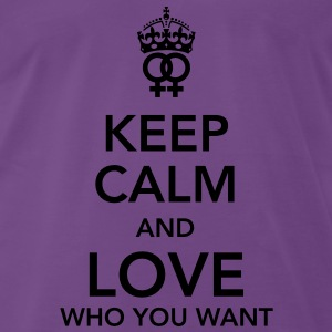 keep calm and love who you want - lesbian Sweaters - Mannen Premium T-shirt