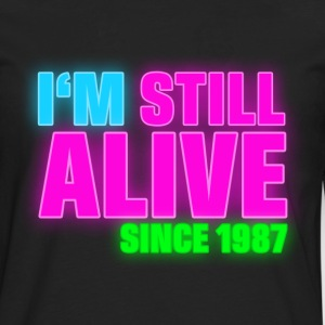 NEON - Birthday - still alive since 1987 (uk) T-Shirts - Men's Premium Longsleeve Shirt