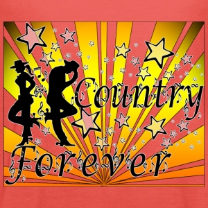 country forever T-Shirts - Women's Tank Top by Bella