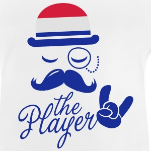 Netherlands retro gentleman sports player rock | football | Moustache | Flag European Barn-T-shirts - Baby-T-shirt