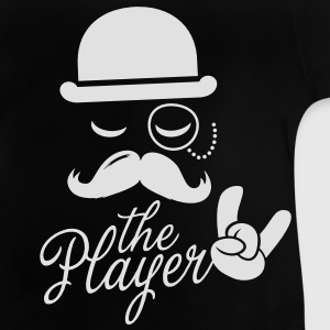 Fashion retro gentleman player met snor rock sport overwinning Bachelor in poker Kinder shirts - Baby T-shirt