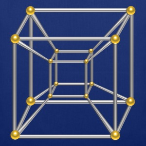 TESSERACT, Hypercube 4D, digital, Symbol - Dimensional Shift, Metatrons Cube, T-shirts - Mulepose