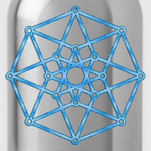 Hypercube 4D - TESSERACT - edge-first-shadow, c, Symbol - Dimensional Shift, Metatrons Cube, Ishtar Star Sweaters - Drinkfles