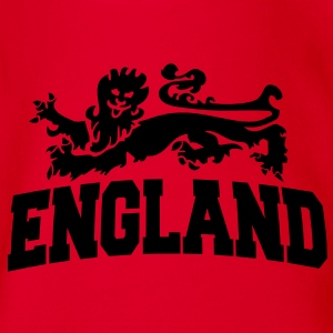 england with lion Kinder T-Shirts - Baby Bio-Kurzarm-Body