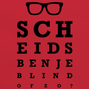 Scheids ben je blind of zo? T-shirts - Retro-tas