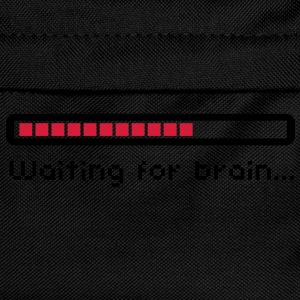 Waiting for brain (loading bar) / Funny humor T-shirts - Rugzak voor kinderen