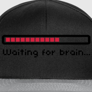 Waiting for brain (loading bar) / Funny humor T-shirts - Snapback cap