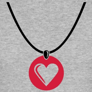 Ketting - Heart - hartje Sweaters - slim fit T-shirt