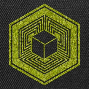 Crop Circle, TESSERACT, Hypercube 4D, 17th July 2010, Fosbury, Wiltshire, Symbol - Dimensional Shift T-shirts - Snapback Cap