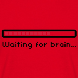 Waiting for brain (loading bar) / Funny humor Sweaters - Mannen T-shirt