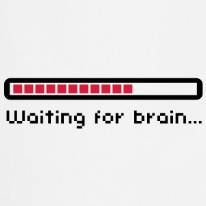 Waiting for brain (loading bar) / Funny humor Flasker og krus - Forklæde