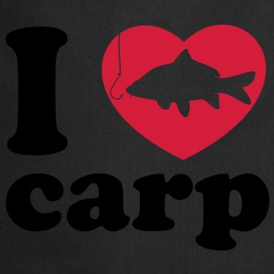 I Love Carp Fishing black - Kochschürze