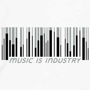 Music is industry Botella cantimplora - Camiseta premium hombre