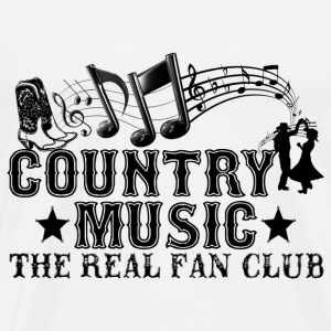 country music the real fan club Hoodies & Sweatshirts - Men's Premium T-Shirt