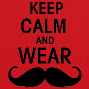 Keep calm an wear Moustache  - Stoffbeutel