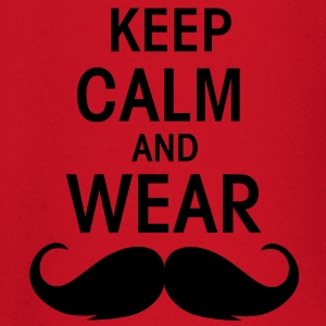 Keep calm an wear Moustache  - Baby Langarmshirt