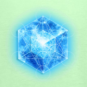 Metatrons Cube with TESSERACT, Hypercube 4D, digital, Symbol - Dimensional Shift,  T-Shirts - Women's Tank Top by Bella