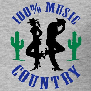 100% music country Sweat-shirts - Tee shirt près du corps Homme