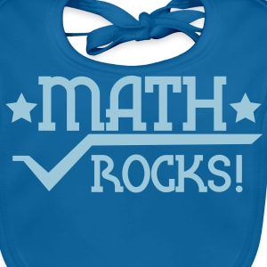 Bleu royal Maths rocks Tee shirts - Bavoir bio Bébé