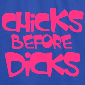 chicks before dicks Kids' Shirts - Women's Tank Top by Bella