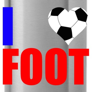 I love foot france Shirts - Water Bottle