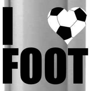 I love foot Shirts - Water Bottle