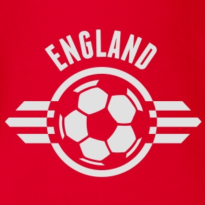 england ii for dark Kinder T-Shirts - Baby Bio-Kurzarm-Body