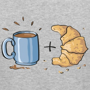 Coffee and croissant Hoodies & Sweatshirts - Men's Slim Fit T-Shirt