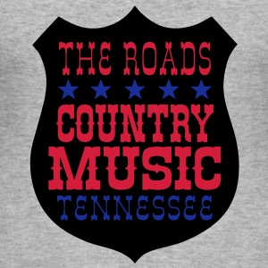the roads country music tennessee Sweat-shirts - Tee shirt près du corps Homme